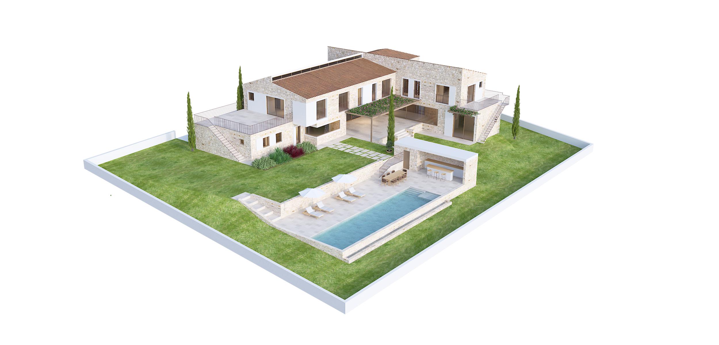 Viv. Unifamiliar aislada con Piscina en Sol de Mallorca 3